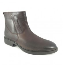 Biker boot type man zip Calzados España in brown