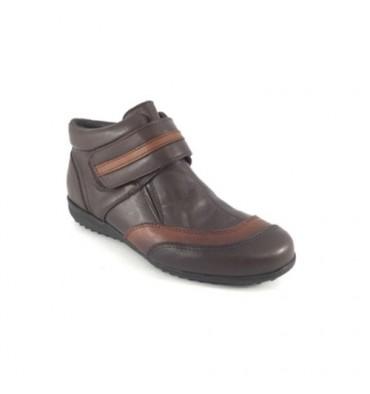 Bota tobillera hombre de velcro Calzados España en marrón