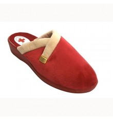 Flip flops women be home with gold trim Nevada in red