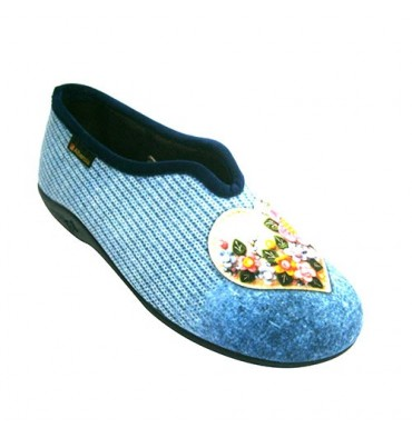 Shoe be home closed woman with heart ornament Alberola in blue