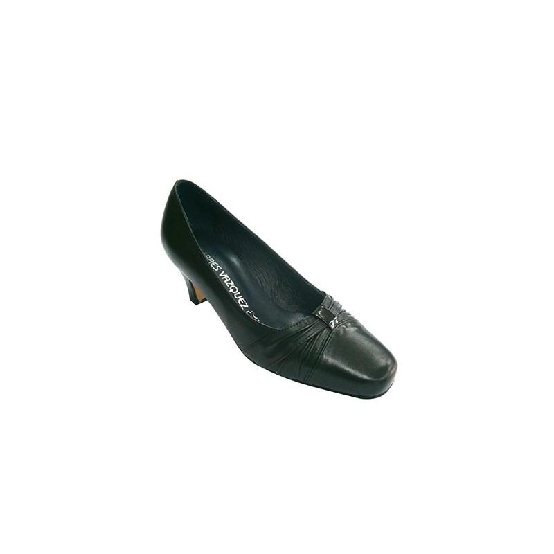 Pomares Vazquez Zapato Mujer Tacón Tipo Salón con pliegues EN Negro Talla 37 Timberland Retro Runner  Plateado (Dark Silver)  37 EU  Negro (H17 Leather) ecchf69V2G
