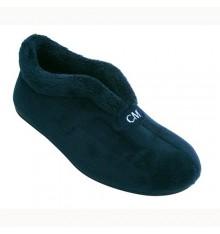 Zapatilla bota mujer con abertura en el empeine Calzamur en azul marino