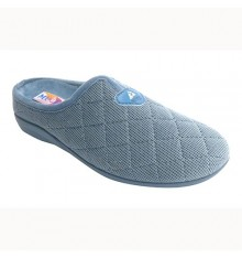 Flip flops with quilted stitching woman Kuass in blue