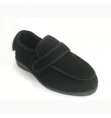 Zapatilla mujer desmontable para pies muy delicados Doctor Cutillas en negro