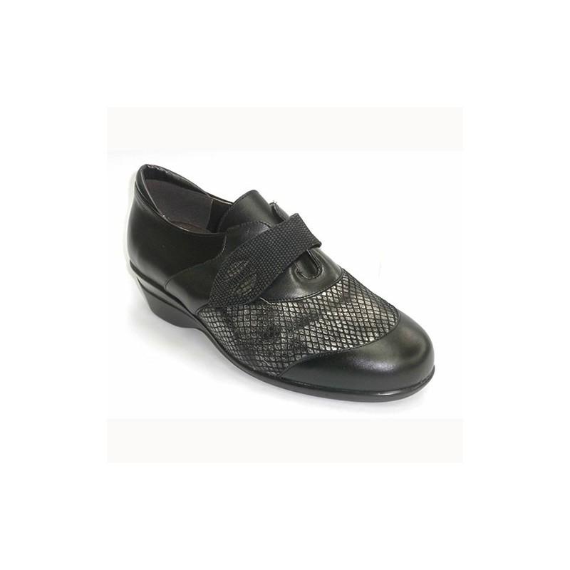 Manuel Almazan Zapato Mujer con Velcro y La Pala de Licra Especial Plantillas Ortopédicas EN Negro Talla 38 75914YI6a