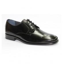 Zapato cordones vestir liso Grimmaldi en negro