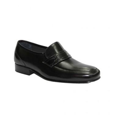 Zapato sin cordones muy ancho Grimmaldi en negro