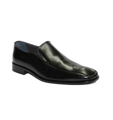 Shoe without laces, wide flat blade Grimmaldi in black