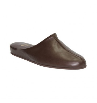 Leather Thongs Men Trigono in brown