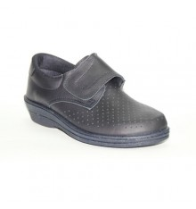 Work Clog skin velcro Farma in navy blue