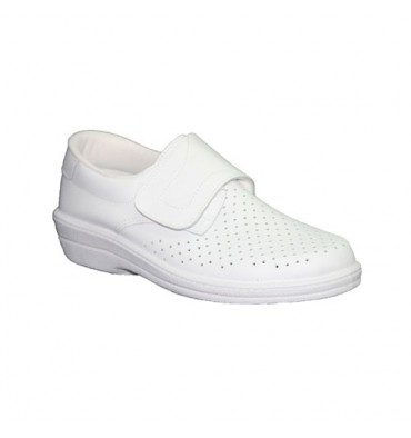 Work Clog skin velcro Knight Farma in white