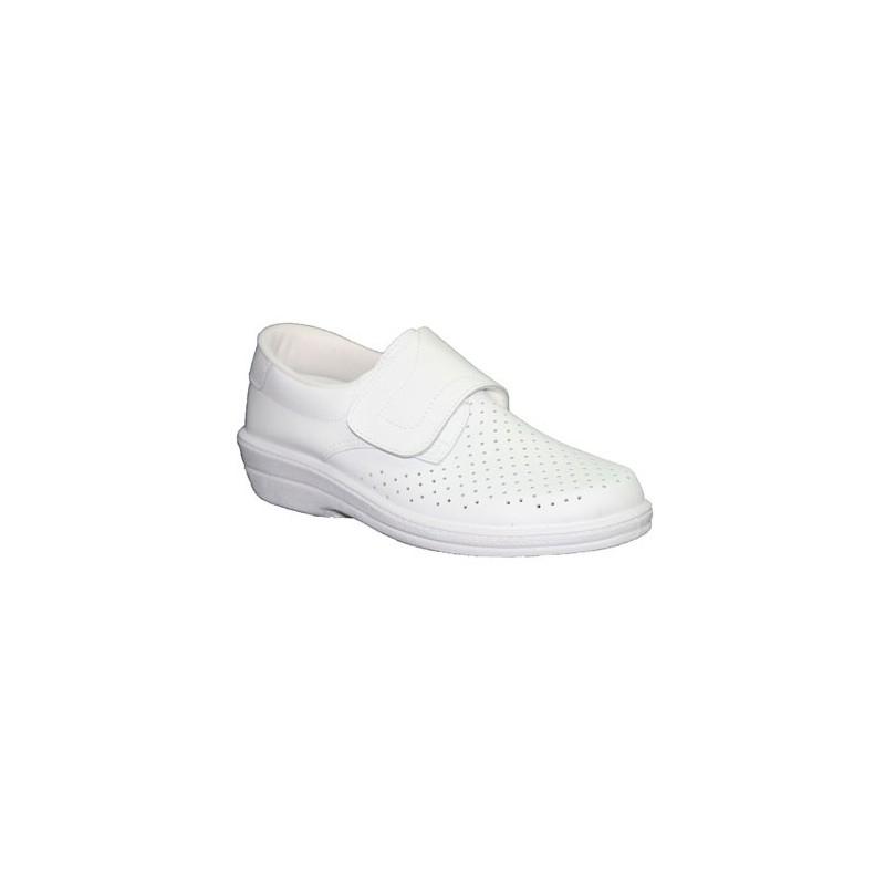 Comprar zueco trabajo piel velcro caballero farma en for Zapatos de trabajo blancos