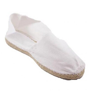 Alpargatas flat esparto Made in Spain in white