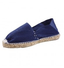 Alpargatas flat esparto Made in Spain in navy blue