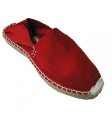 Alpargatas flat esparto Made in Spain in red