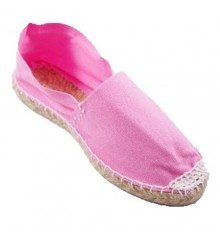 Alpargatas flat esparto Made in Spain in pink