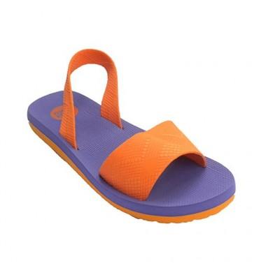 Sandalia piscina o playa mujer goma con tira por detrás Gioseppo en naranja
