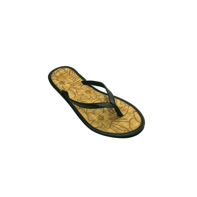 3ec0a8e62 Chanclas mujer piscina o playa de meter el dedo planta de paja Gioseppo en  negro ...