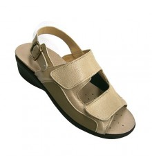 Light Womens Sandal combined with lycra skin and velcro very comfortable Andinas in beig