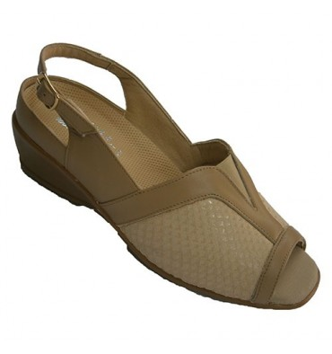 Womens sandals very comfortable and adaptable templates shovel lycra Manuel Almazan in beig
