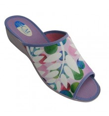 Chancla to be home and heel open toe woman Calzamur in lilac