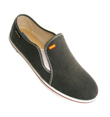 Man canvas shoe with rubber on the sides Alberola in black