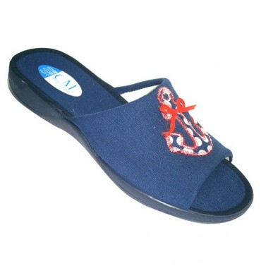 Open toe and heel slipper reason sailor Calzamur in navy blue