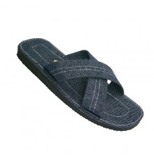 Chanclas hombre tiras cruzadas Made in Spain en tejano