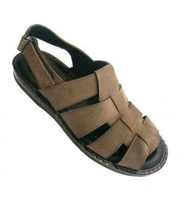 Sandals open man with strips Kuass in brown