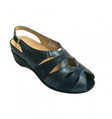 Womens sandals comfortable orthotics Pie Santo in navy blue
