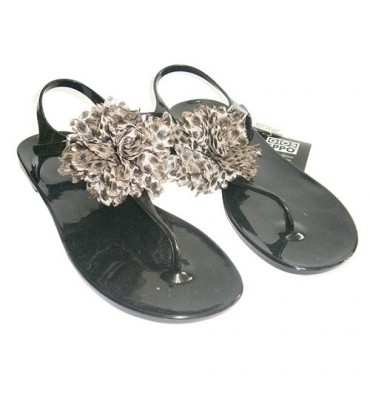 Rubber toe sandals Gioseppo in black