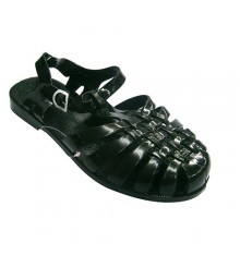 Crabeater rubber sandals River Hurán in black
