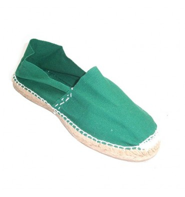 Flat sandals esparto Made in Spain in green