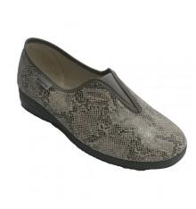 slipper mulher fechou com elástico desenhos do peito do pé de cobra Muro em Cinza