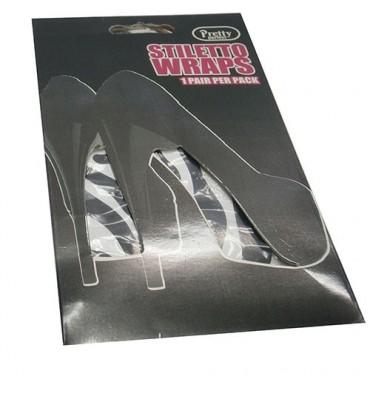 Lámina decorativa para suela zapatos de tacón Cairon en blanco