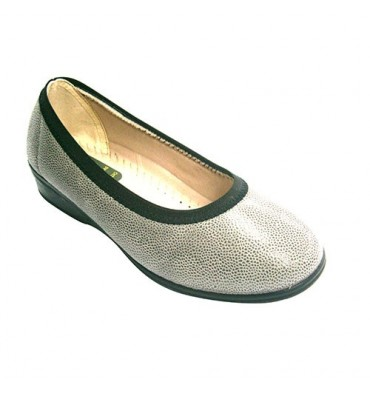 Manoletina woman very comfortable Lycra with rubber around Doctor Cutillas in gray
