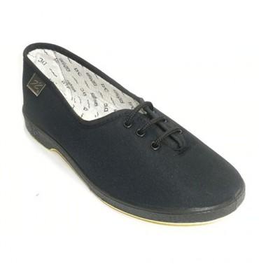 Shoe laces flat person more Doctor Cutillas in black