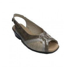 Combined Sandal snake skin in three shades Roldán in various colors