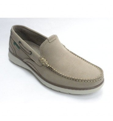 Moccasin type shoes man sport Pitillos in taupe