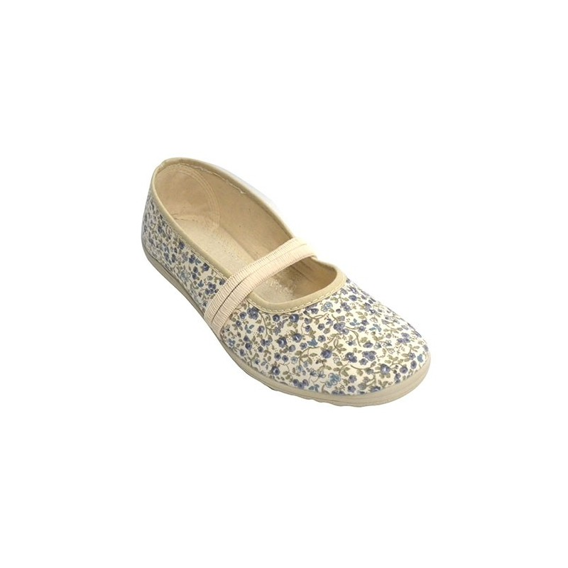 fa62b738aa4 Manoletina flat sneaker rubber stamping flowers woman in the instep ...