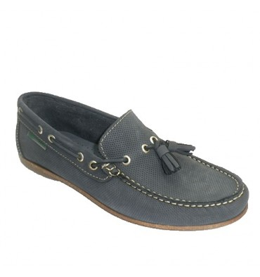 Moccasin with tassels Pitillos in navy blue