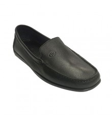 Man moccasin sewn leather sole very squishy Edward´s in black