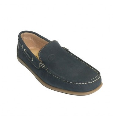 Man nautical moccasin type summer sole stitched Edward´s in navy blue