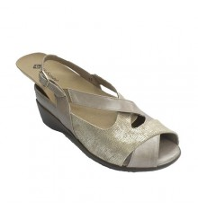 Sandal special woman for orthotics Pie Santo in mink