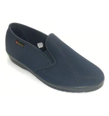 Woman slipper closed all the sides gums licka Alberola in navy blue
