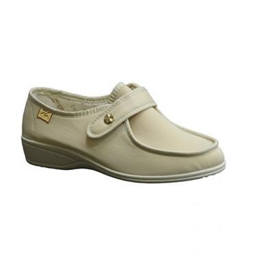 Zapatillas velcro pies muy delicados Doctor Cutillas en beig