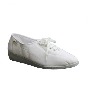 Wedge Shoe laces Muro in white