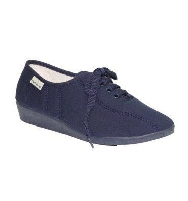 Wedge Shoe laces Muro in navy blue