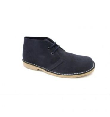 Wide toe boot safari Danka in navy blue
