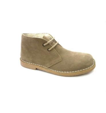 Wide toe boot safari with boreguillo Danka in light brown